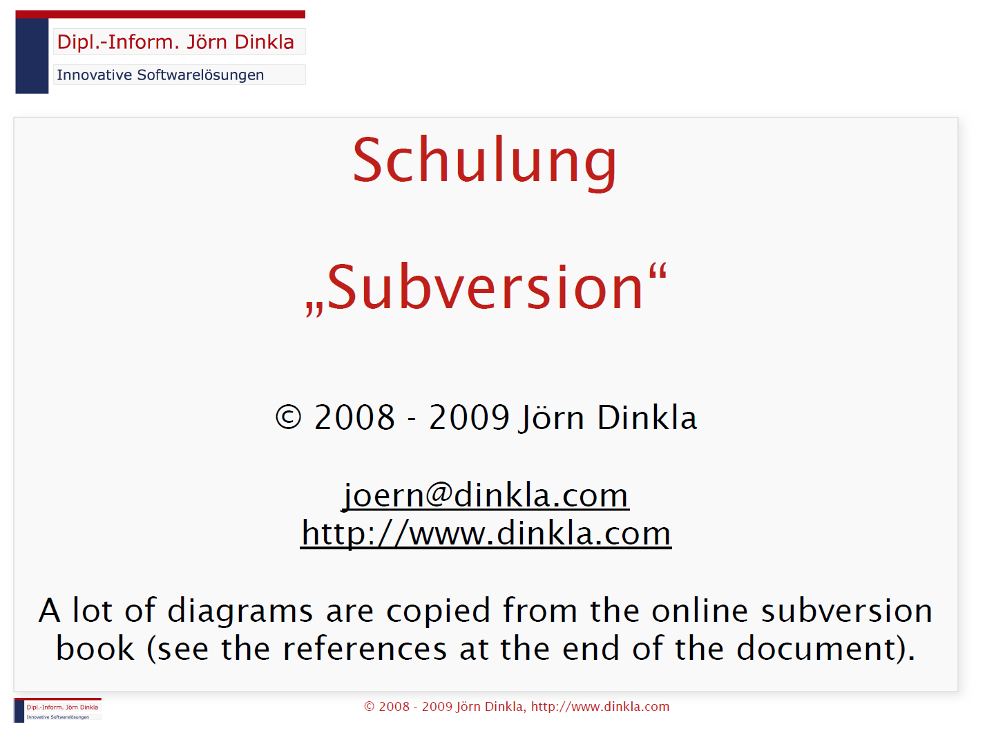 Schulung 'Subversion'