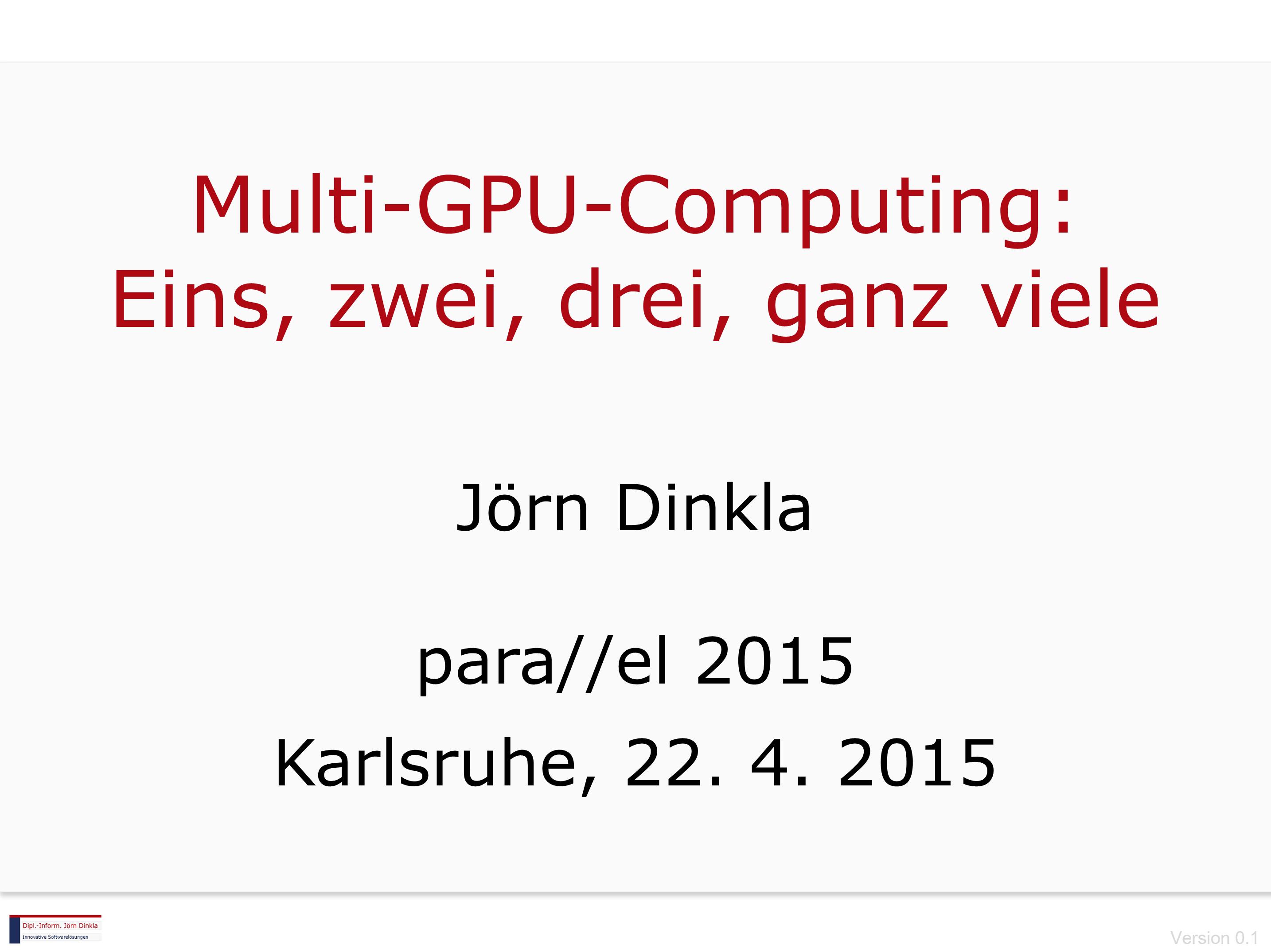 Multi-GPU-Computing