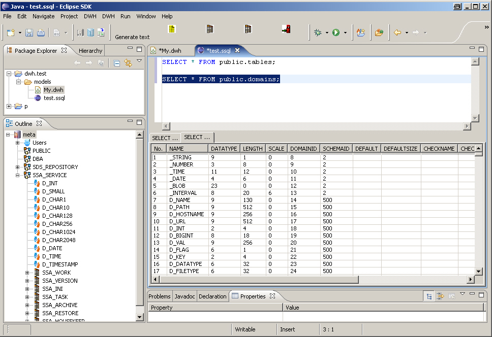 Eclipse SQL Editor Plugin
